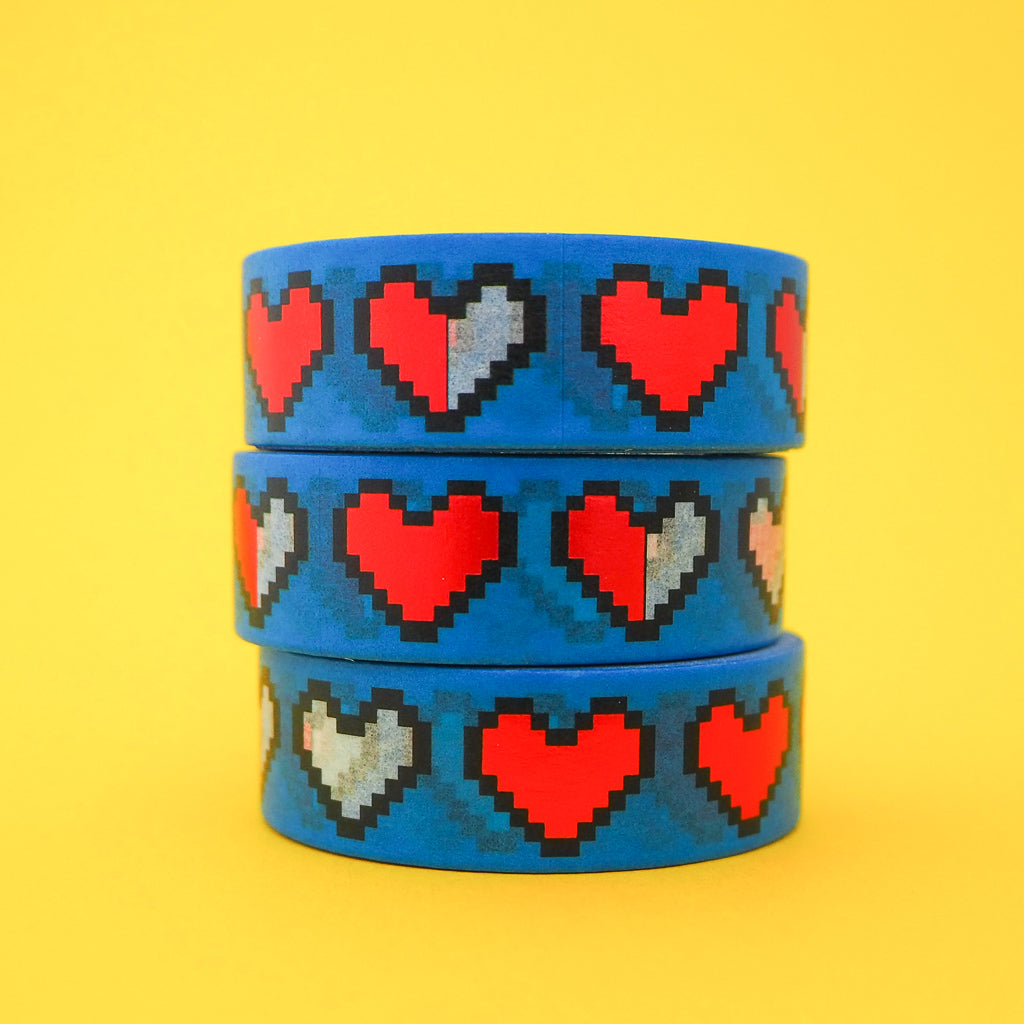 Pixel Heart Washi Tape