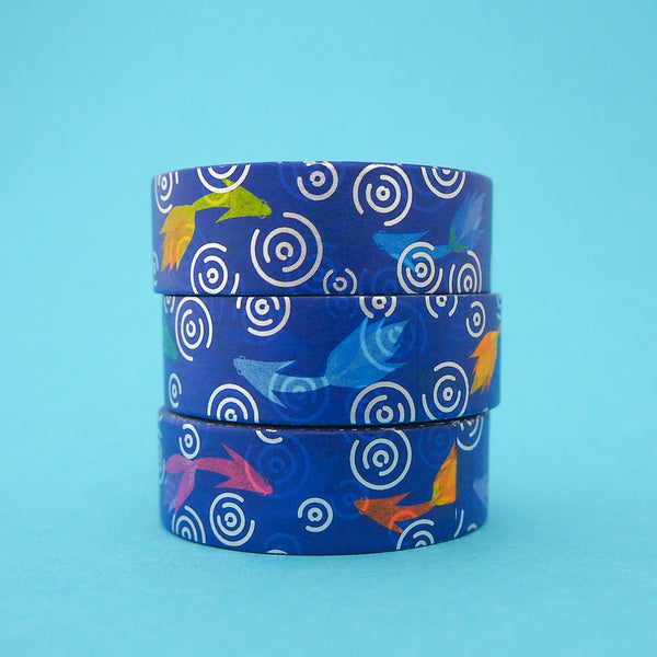 Fish Washi Tape - Hand Over Your Fairy Cakes - hoyfc.com