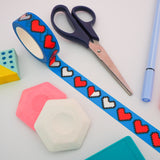 Pixel Heart Washi Tape - Hand Over Your Fairy Cakes - hoyfc.com