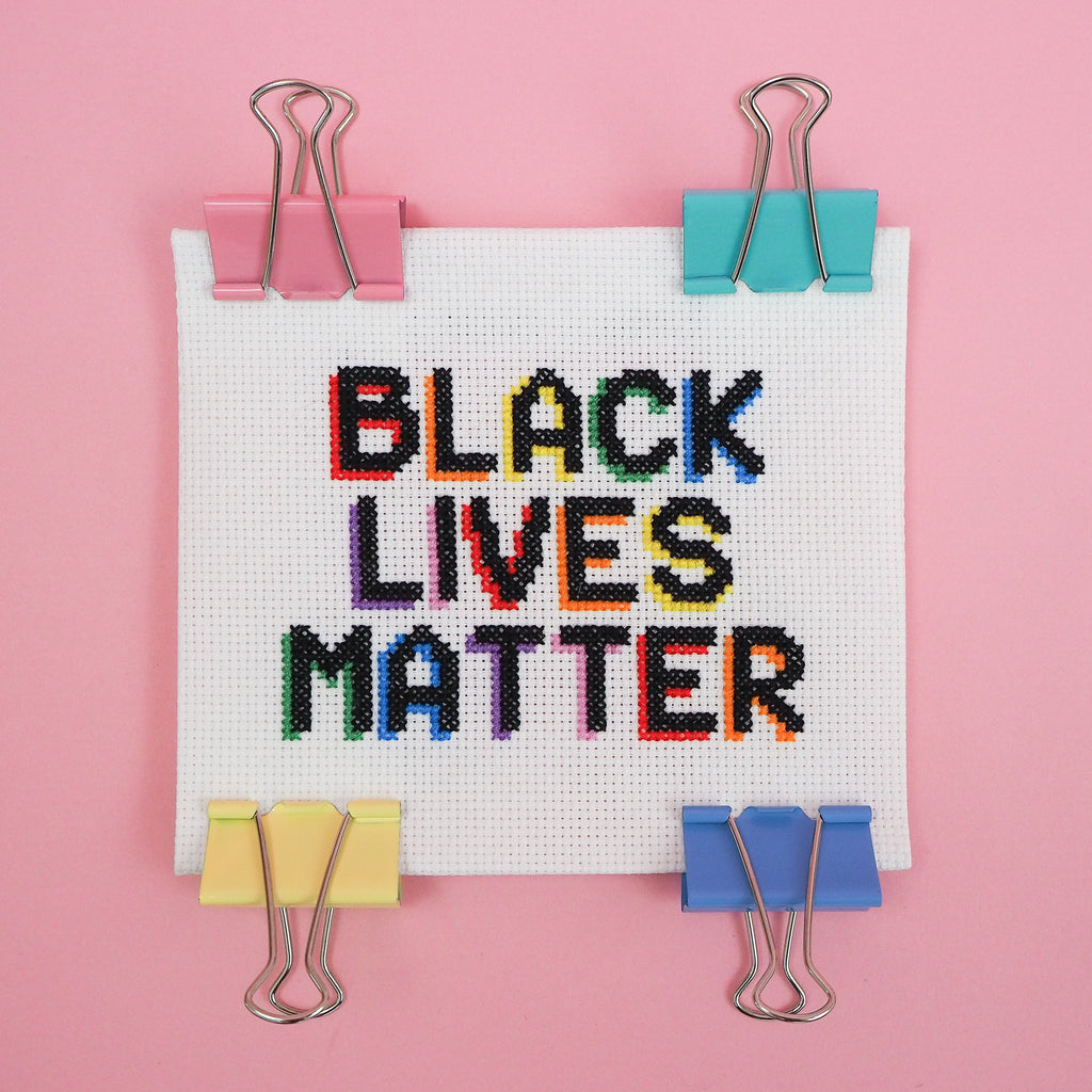 Black Lives Matter Cross Stitch Pattern