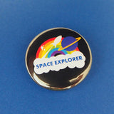 Space Explorer Button Badge - Hand Over Your Fairy Cakes - hoyfc.com