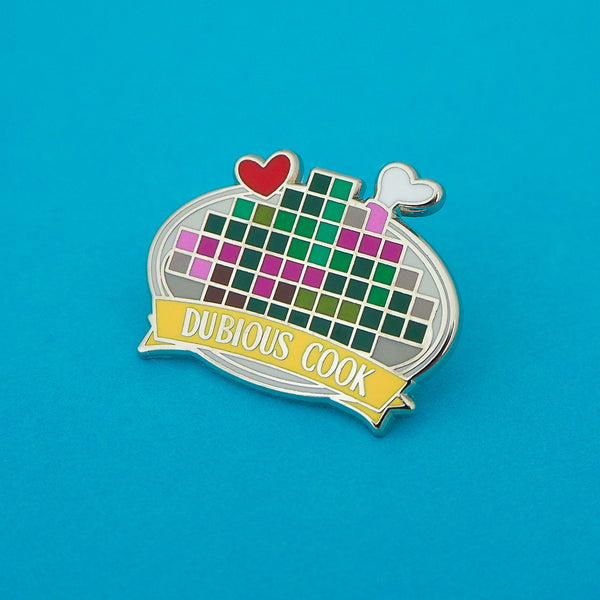 Dubious Cook Enamel Pin - Hand Over Your Fairy Cakes - hoyfc.com