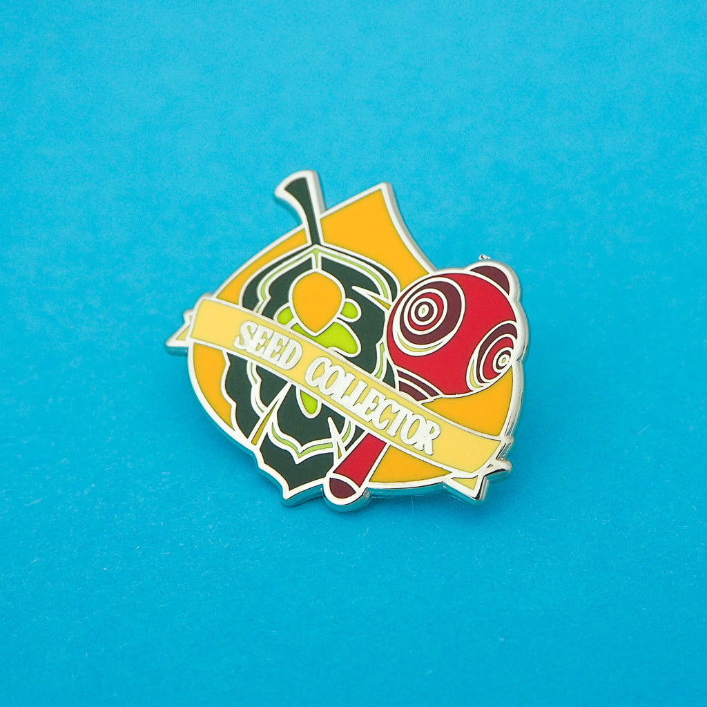 Seed Collector - Enamel Pin - Hand Over Your Fairy Cakes - hoyfc.com