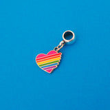 Rainbow Heart Charm - Hand Over Your Fairy Cakes - hoyfc.com