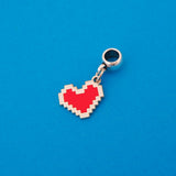 Pixel Heart Charm - Hand Over Your Fairy Cakes - hoyfc.com