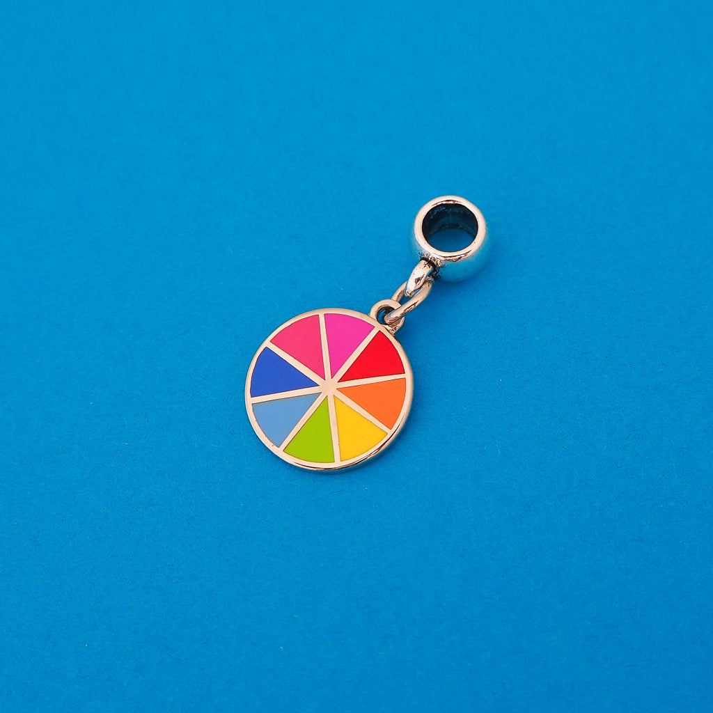 Bright Colour Wheel Charm - Hand Over Your Fairy Cakes - hoyfc.com