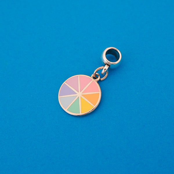 Pastel Colour Wheel Charm - Hand Over Your Fairy Cakes - hoyfc.com