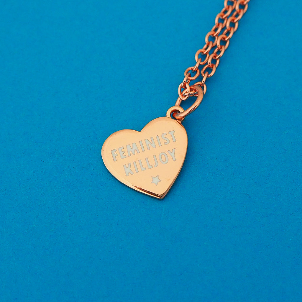 Feminist Killjoy Charm Necklace - Hand Over Your Fairy Cakes - hoyfc.com