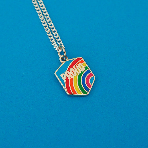 Proud Rainbow Charm Necklace - Hand Over Your Fairy Cakes - hoyfc.com