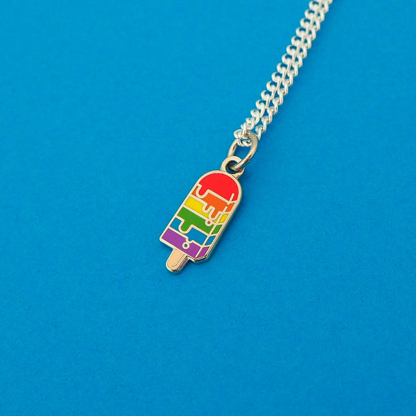 Bright Ice Lolly Charm Necklace - Hand Over Your Fairy Cakes - hoyfc.com