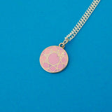 Pink Gem Charm Necklace - Hand Over Your Fairy Cakes - hoyfc.com