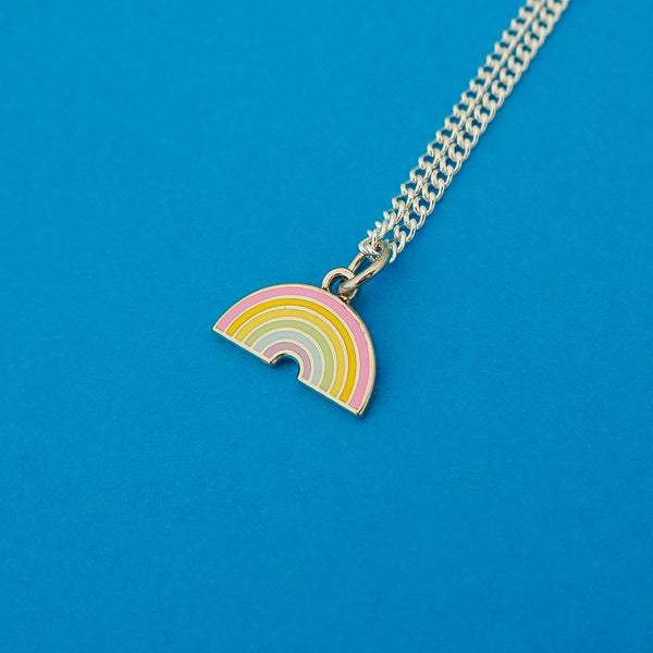 Pastel Rainbow Charm Necklace - Hand Over Your Fairy Cakes - hoyfc.com