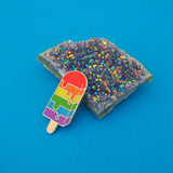 Rainbow Ice Lolly Enamel Pin - Hand Over Your Fairy Cakes - hoyfc.com