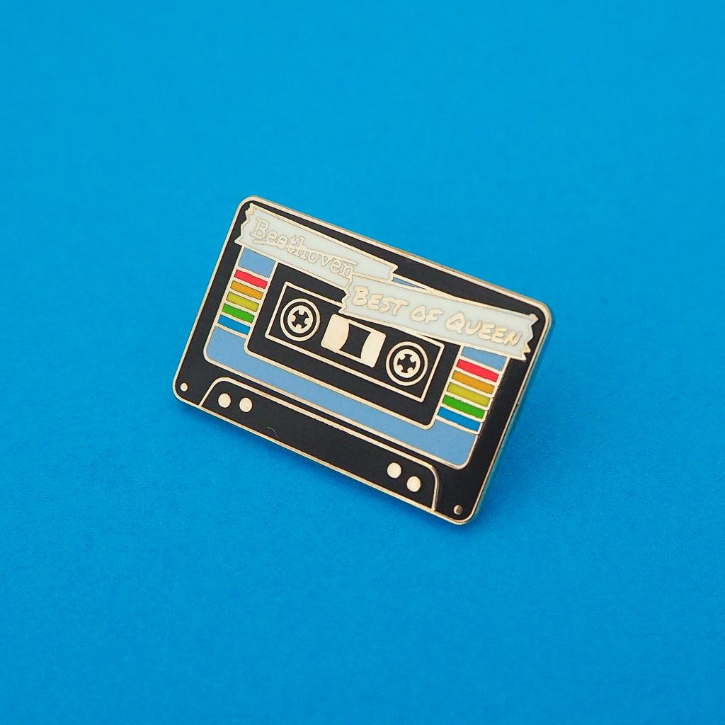 """Best of Queen"" Tape Enamel Pin - Hand Over Your Fairy Cakes - hoyfc.com"