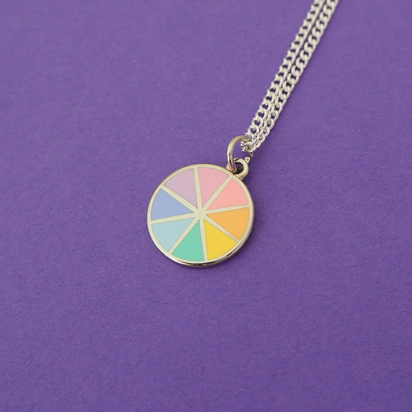 Pastel Colour Wheel Charm Necklace - Hand Over Your Fairy Cakes - hoyfc.com