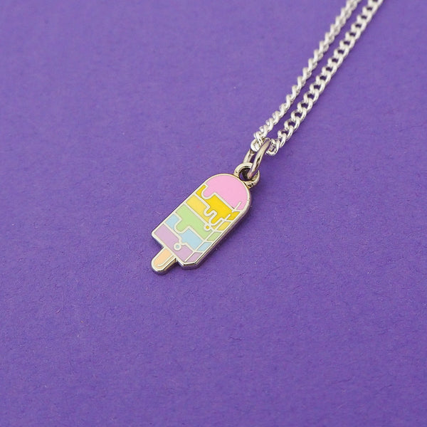 Pastel Ice Lolly Charm Necklace - Hand Over Your Fairy Cakes - hoyfc.com