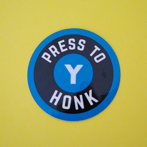 Press Y To Honk Vinyl Sticker