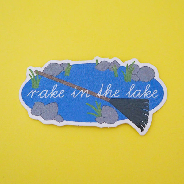 Rake In The Lake Vinyl Sticker