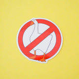 No Geese Vinyl Sticker - Hand Over Your Fairy Cakes - hoyfc.com