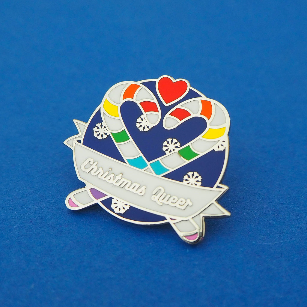 Christmas Queer - Enamel Pin - Hand Over Your Fairy Cakes - hoyfc.com