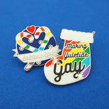 Making Yuletide Gay - Enamel Pin - Hand Over Your Fairy Cakes - hoyfc.com