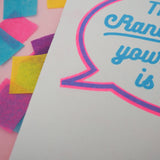 """Thanks Random Man, Your Opinion Is Noted"" Riso Printed Zine - Hand Over Your Fairy Cakes - hoyfc.com"