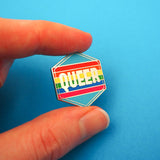 Queer Rainbow - Enamel Pin - Hand Over Your Fairy Cakes - hoyfc.com