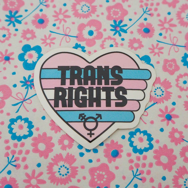 Trans Rights Vinyl Sticker