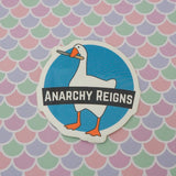 Anarchy Reigns Goose Vinyl Sticker - Hand Over Your Fairy Cakes - hoyfc.com