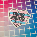 Trans Rights Vinyl Sticker - Hand Over Your Fairy Cakes - hoyfc.com