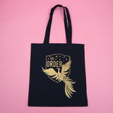 The Order of the Phoenix Gold Foil Tote Bag - Hand Over Your Fairy Cakes - hoyfc.com