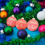 Festive As Fuck Bauble Enamel Pin - Hand Over Your Fairy Cakes - hoyfc.com