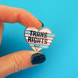 Trans Rights Enamel Pin - Hand Over Your Fairy Cakes - hoyfc.com