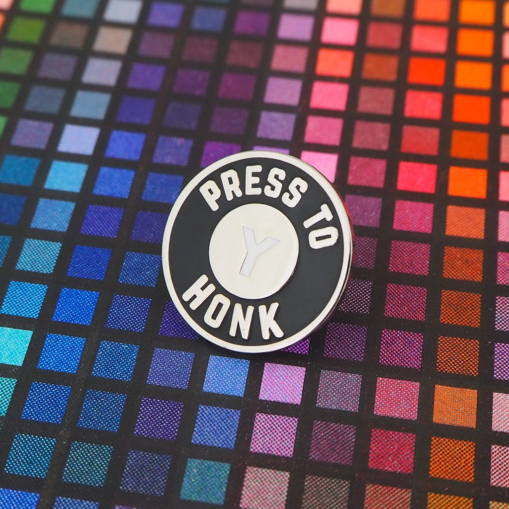 Press Y to Honk Enamel Pin