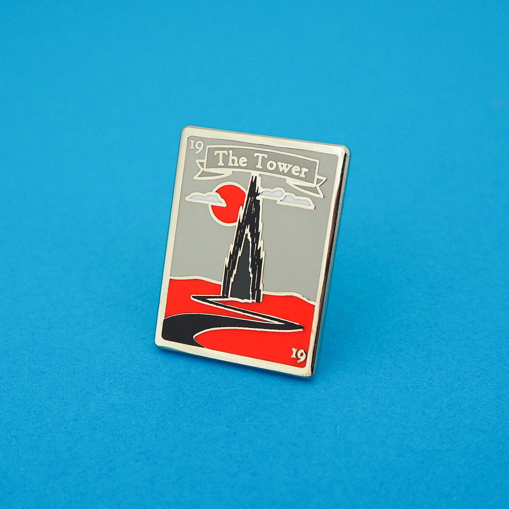 Dark Tower Tarot Card Enamel Pin - Hand Over Your Fairy Cakes - hoyfc.com