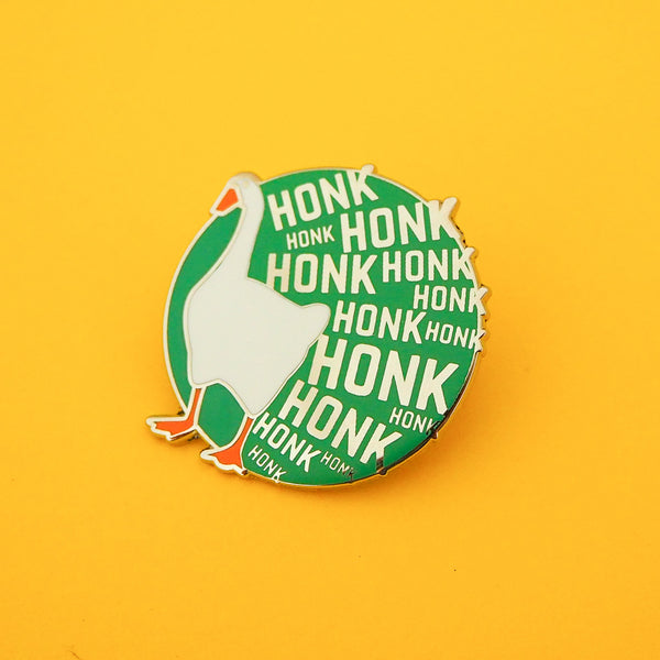 HONK HONK HONK Enamel Pin Badge - Hand Over Your Fairy Cakes - hoyfc.com