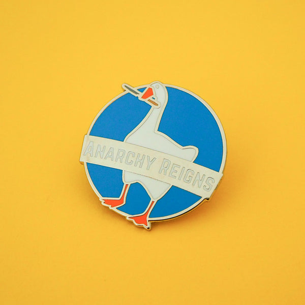 Anarchy Reigns Enamel Pin - Hand Over Your Fairy Cakes - hoyfc.com