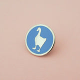 Goose Enamel Pin - Hand Over Your Fairy Cakes - hoyfc.com