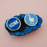 HONK Goose Enamel Pin - Hand Over Your Fairy Cakes - hoyfc.com