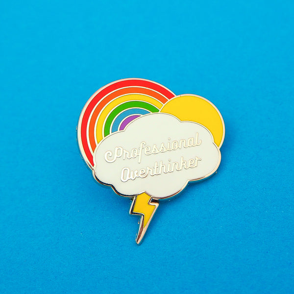 Professional Overthinker - Enamel Pin - Hand Over Your Fairy Cakes - hoyfc.com