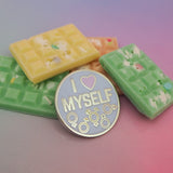 I Love Myself Enamel Pin - Hand Over Your Fairy Cakes - hoyfc.com