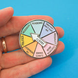 Anxiety Spinner - Enamel Pin - Hand Over Your Fairy Cakes - hoyfc.com