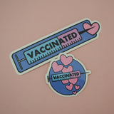 Vaccinated Rectangle Vinyl Sticker - Hand Over Your Fairy Cakes - hoyfc.com