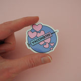 Vaccinated Circle - Vinyl Sticker - Hand Over Your Fairy Cakes - hoyfc.com