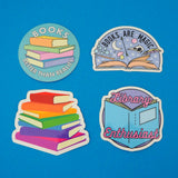 Books are Magic Sticker - Hand Over Your Fairy Cakes - hoyfc.com