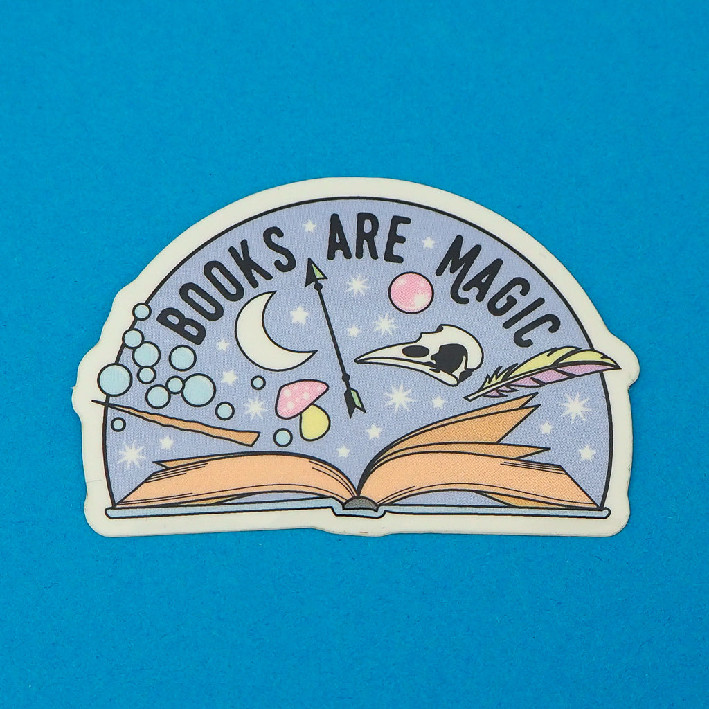 Books Are Magic - Vinyl Sticker