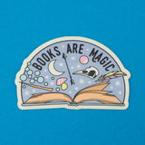 Books Are Magic Vinyl Sticker - Hand Over Your Fairy Cakes - hoyfc.com