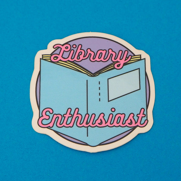 Library Enthusiast Vinyl Sticker - Hand Over Your Fairy Cakes - hoyfc.com