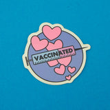 Vaccinated Circle Vinyl Sticker - Hand Over Your Fairy Cakes - hoyfc.com