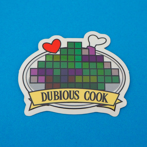 Dubious Cook Vinyl Sticker - Hand Over Your Fairy Cakes - hoyfc.com
